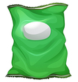 A green bag with an empty label vector image
