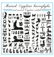 Ancient Egyptian hieroglyphs and symbols vector image