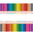 colored pencils in rows vector image