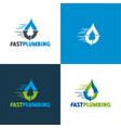 fast plumbing vector image