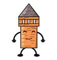 kawaii pencil icon image vector image