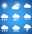 Meteorology icons vector image