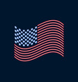 neon us flag glowing sign patriot day vector image