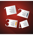One Two Three Four Steps for Tutorial Infographics vector image