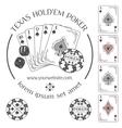 Poker emblem and design elements vector image