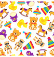 popular baby toys seamless pattern vector image