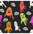 Seamless pattern with ghosts background vector image