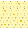 Seamless pattern light bulbs on yellow background vector image