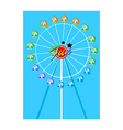 A view of a Ferris Wheel vector image vector image