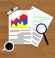 file with diagram marketing vector image