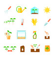 seedling icons set vector image