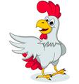 funny chicken posing vector image