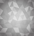 Abstract triangle with gray background vector image
