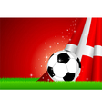 Soccer and Nation Flag vector image