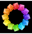 Abstract Cubes Frame vector image vector image