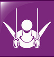 Icon for gymnastics with rings vector image