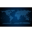 Abstract world map from light dots vector image vector image