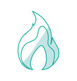 fire burn flamme vector image