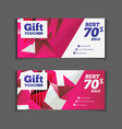 Gift or discount voucher template with modern vector image