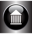 Museum flat simple icon on black button vector image