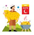 muslim holiday of ramadan flat style vector image
