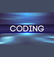 programming code abstract technology background of vector image