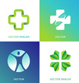 set of logo design template in bright gradient vector image