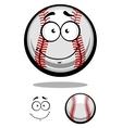 Smiling cartoon baseball ball vector image