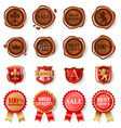 wax seals set vector image