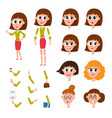 woman character creation set with different faces vector image