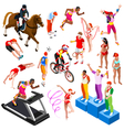 Sport Isometric Olympic Sportsmen Set AurielAki vector image vector image