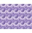 pattern yin yang symbols vector image vector image