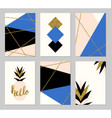 Abstract Design Cards Set vector image
