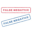false negative textile stamps vector image