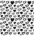 Hearts hand drawn seamless pattern vector image