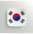 Button - South Korea Flag Icon vector image