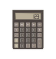 Calculator icon isolated button design sign vector image