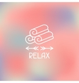 Spa relax label on blurred background vector image vector image