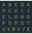 A set of letters vector image