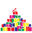a mountain of gifts vector image