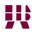 buttons with flag of Qatar vector image