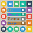 Chart icon sign Set of twenty colored flat round vector image