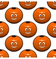 Seamless pattern of oranges fruits vector image