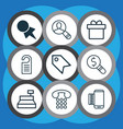 set of 9 commerce icons includes business vector image