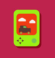 flat icon design collection portable game in vector image vector image
