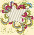vintage doodle star vector image vector image