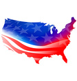 American map flag on a white background vector image