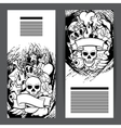 Banners with retro tattoo symbols Cartoon old vector image