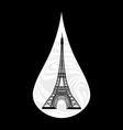 Metaphoric of France Crying tear mourning Paris on vector image