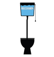 recession on toilet vector image